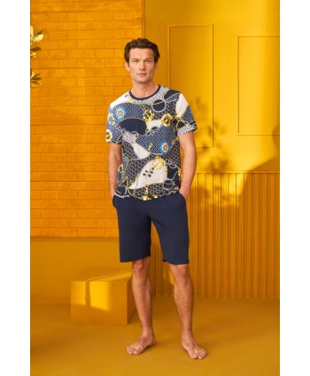 DOREANSE HOMEWEAR men t-shirt & shorts set 04930