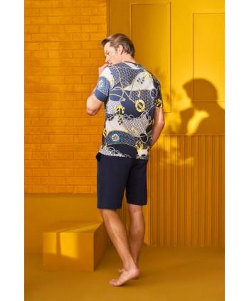 DOREANSE HOMEWEAR men t-shirt & shorts set 04930