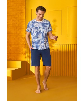 DOREANSE HOMEWEAR men t-shirt & shorts set 04950