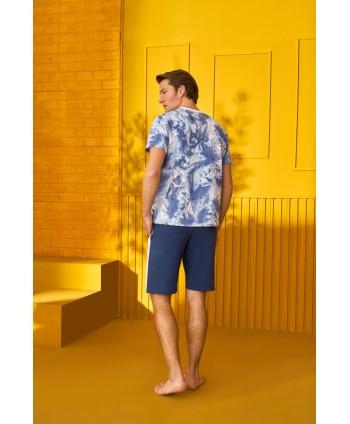 DOREANSE HOMEWEAR men t-shirt & shorts set 04950