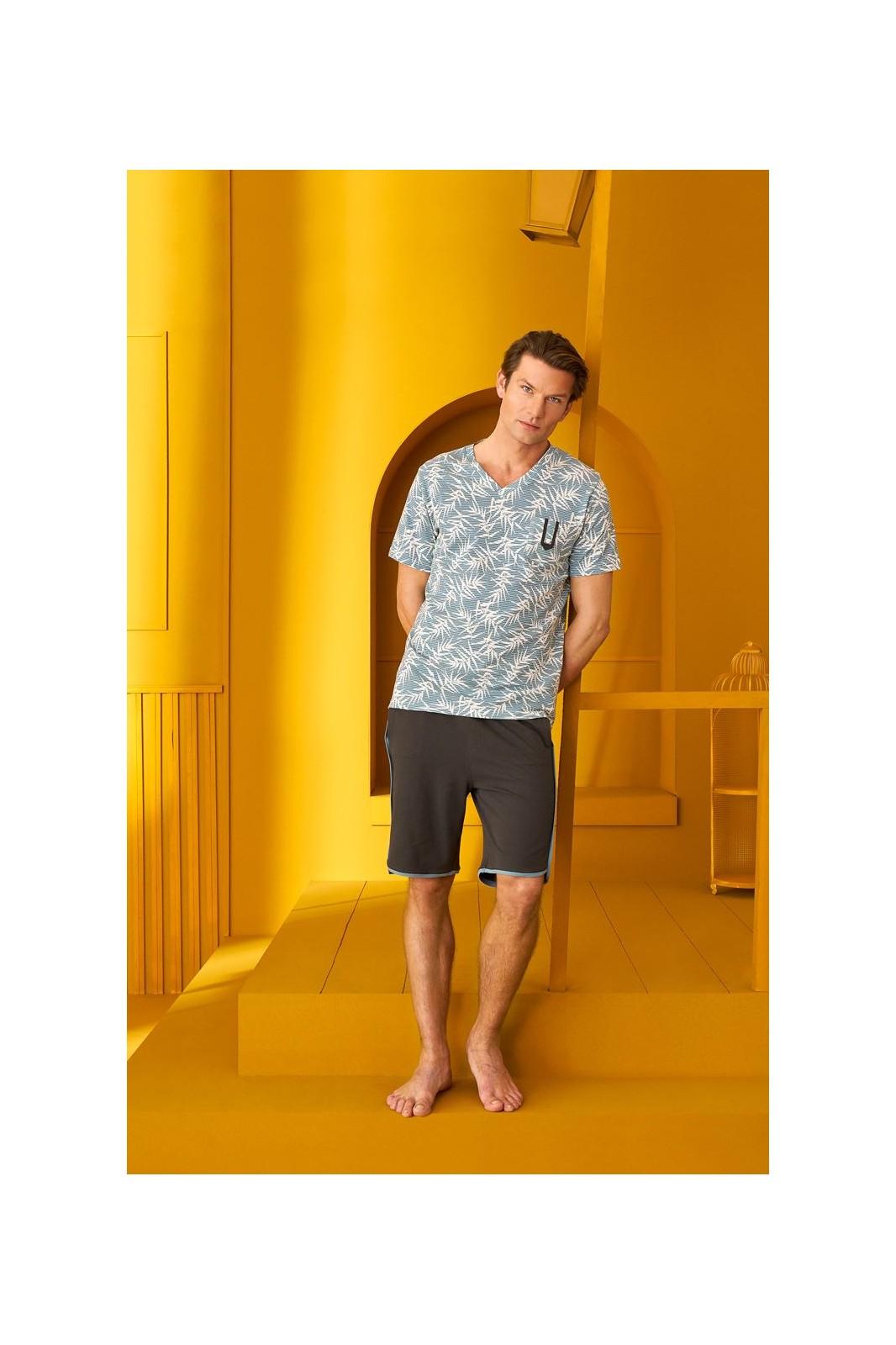 DOREANSE HOMEWEAR men t-shirt & shorts set 04970