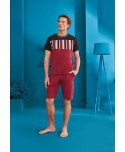 DOREANSE HOMEWEAR men t-shirt & shorts set 04910