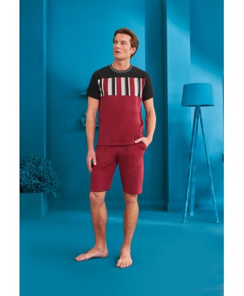 DOREANSE HOMEWEAR men t-shirt & shorts set 04910
