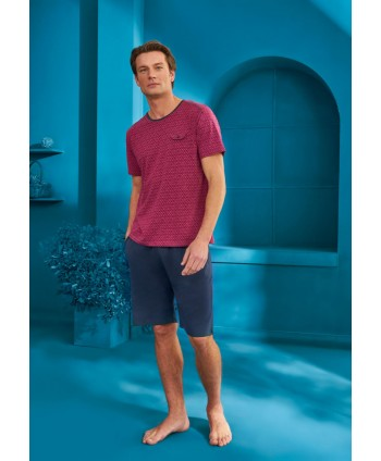 DOREANSE HOMEWEAR men t-shirt & shorts set 04890